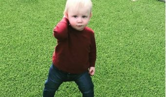 Nick Carter's Son Odin is Walking