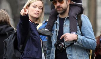 Olivia Wilde Gets a Family Visit on Set
