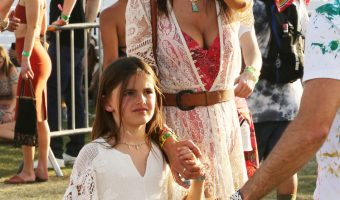 Alessandra Ambrosio Takes Anja to Coachella