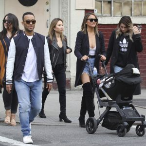 John Legend & Chrissy Teigen Shop in Soho With Luna