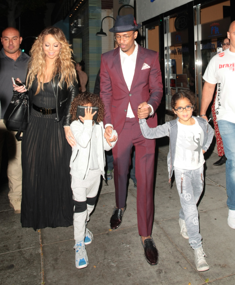 Mariah Carey and Nick Cannon Dine With their Twins | Celeb ...