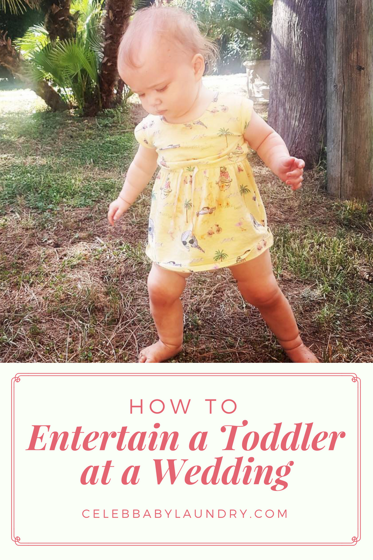 How to Entertain a Toddler at a Wedding - Our Tips!