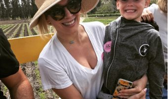 Hilary Duff's Strawberry Picking Day With Luca