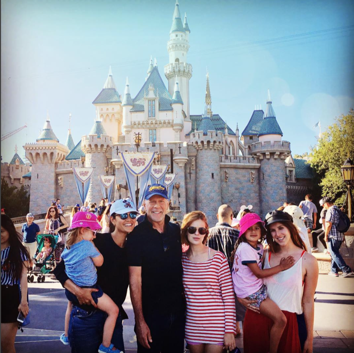 Bruce Willis Spends Quality Family Time With Daughters at Disneyland
