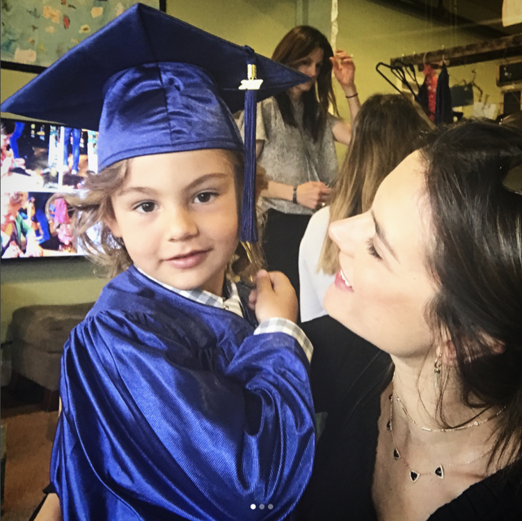 Alessandra Ambrosio's Son Noah Graduates Preschool | Celeb ...