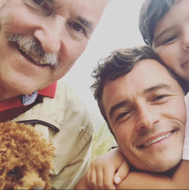 Orlando Bloom Shares Three Generation Selfie