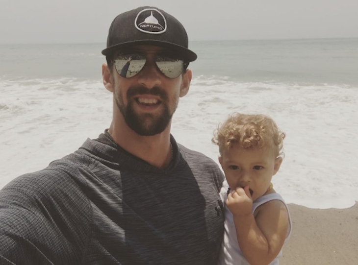 Michael Phelps is All Smiles With His Son Boomer