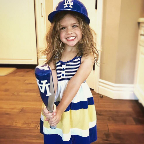 Alyssa Milano Shares A Sweet New Photo of Her Baseball Fan