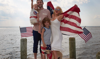 Christina Aguilera Got Patriotic With Her Family For the 4th of July