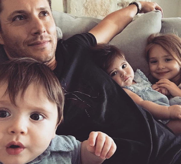 Jensen Ackles Shares His Son's 'Scary Good' Selfie Skills