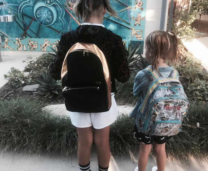 Jessica Alba's Daughter Honor and Haven Head Back to School!