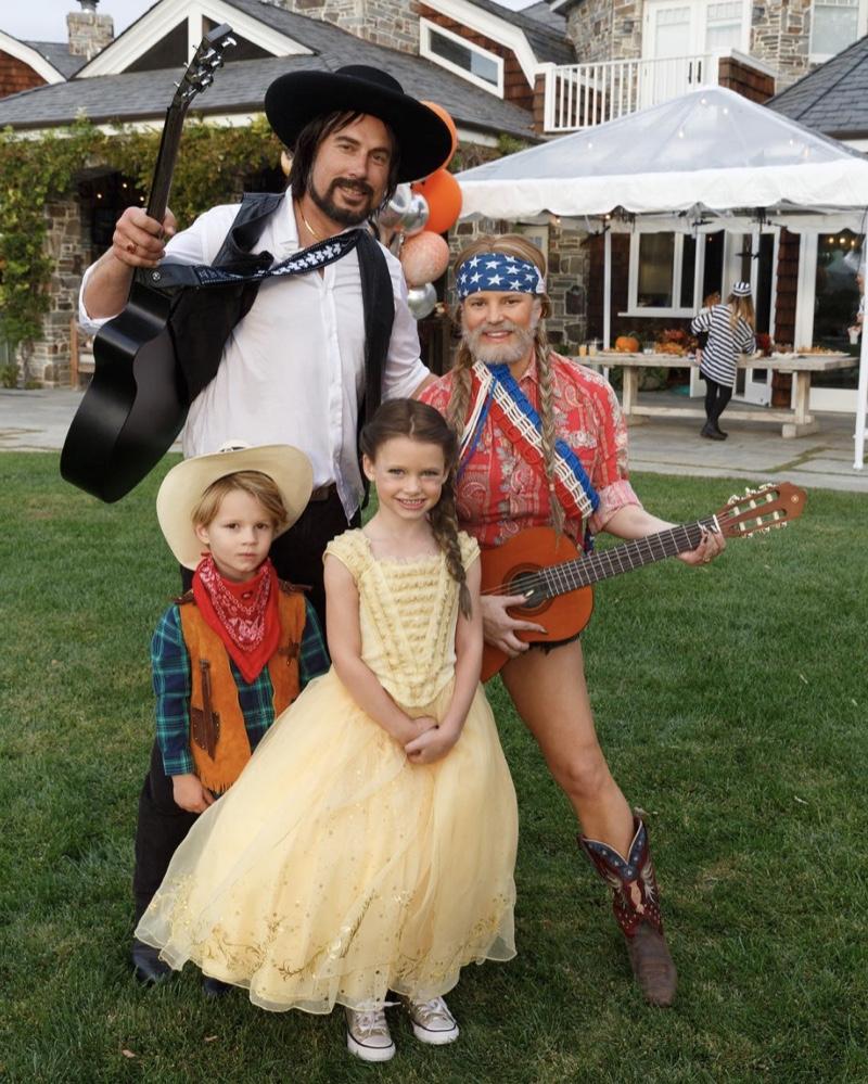 jessica simpson and her family had a texan themed halloween. | celeb