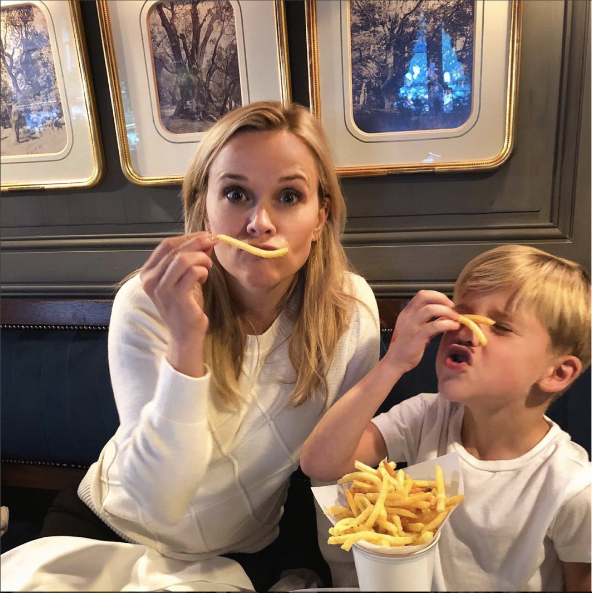 Paris Tn March For Babies Home: Reese Witherspoon & Tennessee Enjoy 'French' Fries In