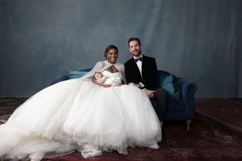 Serena Williams Amp Alexis Ohanian Pose With Daughter Alexis