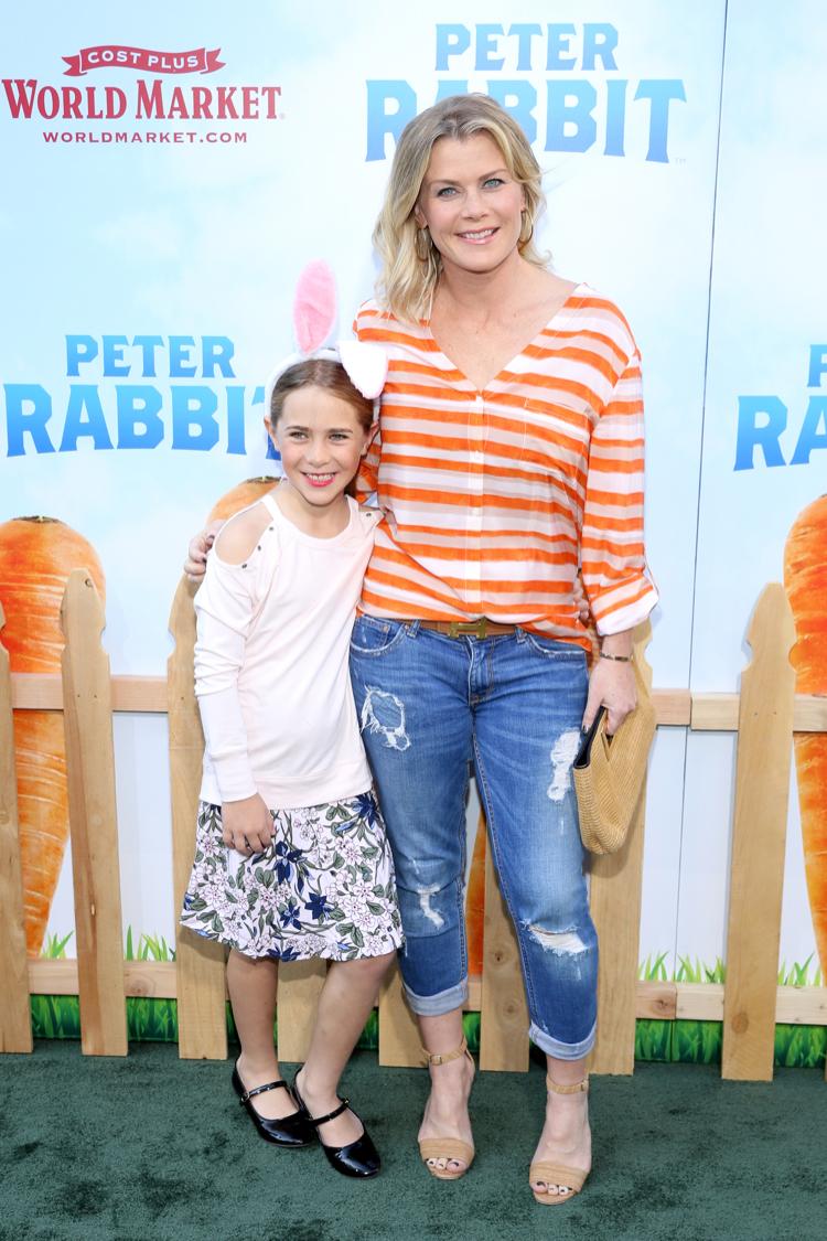 Alison Sweeney & Daughter Megan Attend Peter Rabbit ...