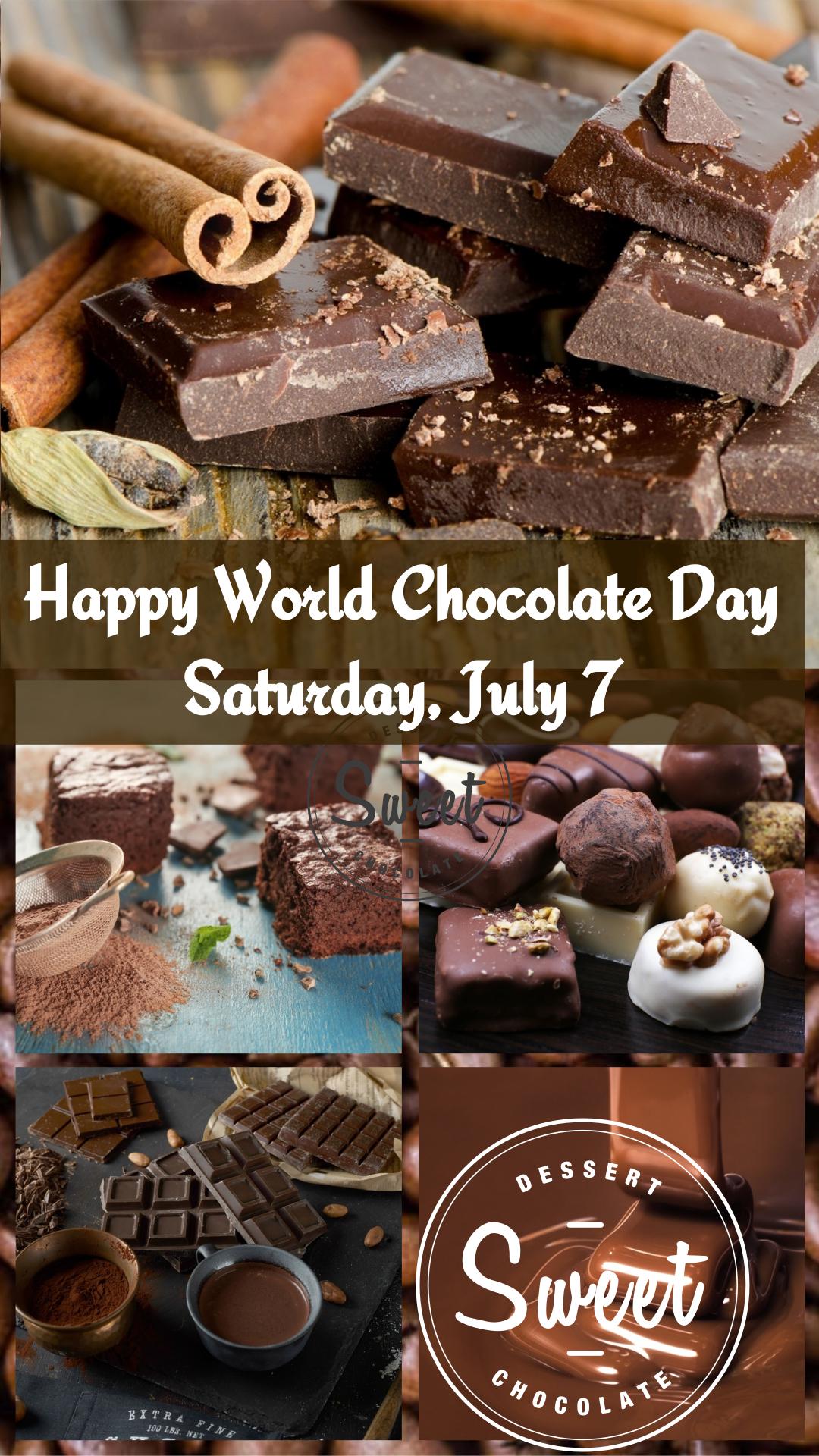 Celebrate World Chocolate Day July 7 - Fun Chocolate Facts!
